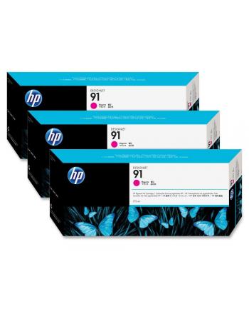 Tusz HP 91 magenta 3pack Vivera   3x775ml