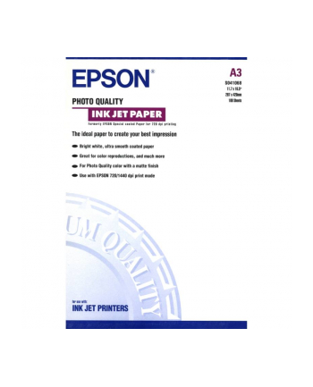 Papier Epson Photo Quality Ink Jet | 105g | A3 | 100ark