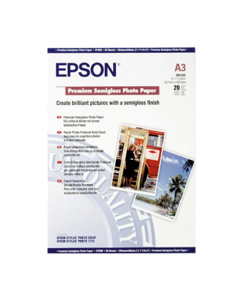 Papier Epson Premium Semigloss Photo | 251g | A3 | 20ark
