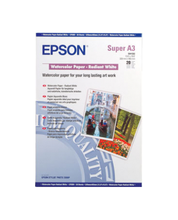 Papier Epson Watercolour Radiant White | 190g | A3  | 20ark