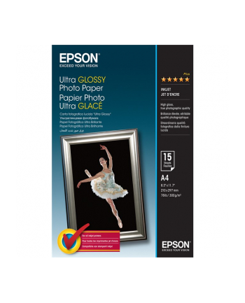 Papier Epson Ultra Glossy Photo | 300g | A4 | 15ark