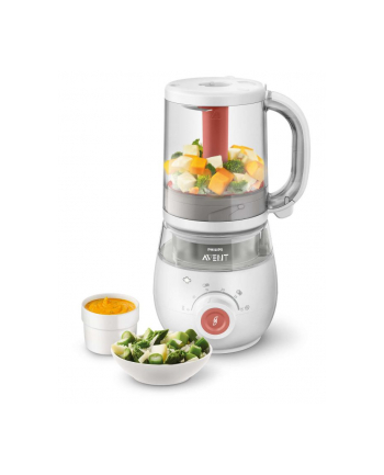 Philips 4-in-1 baby food maker Avent SCF881 / 01, food warmers (white / red)