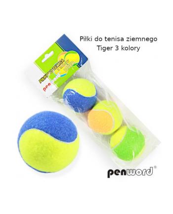 polsirhurt Piłki do tenisa ziemnego kolorowe Tiger op3szt w worku
