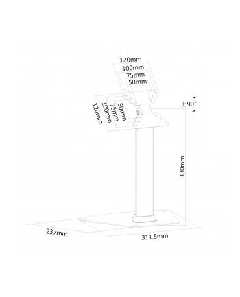 newstar Stojak biurkowy na LCD FPMA-D1500SILVER