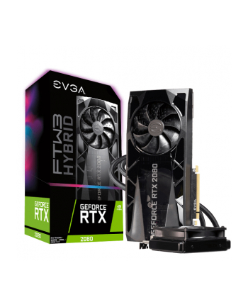 EVGA GeForce RTX 2080 FTW3 ULTRA HYBRID GAMING, 8GB GDDR6, RGB LED Logo, iCX2