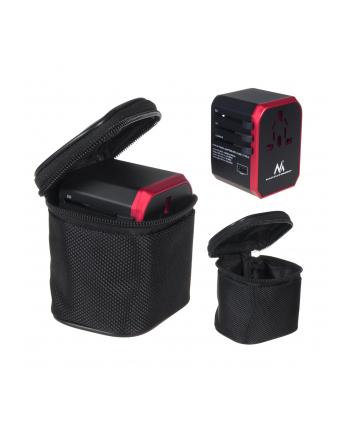 Maclean MCE238 Adapter podróżny zasilacz 4xUSB 2,4A + USB-C 3A bezpiecznik 8A