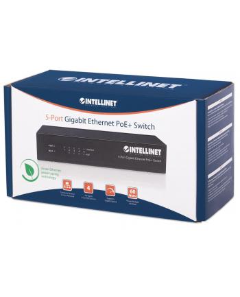 intellinet network solutions Intellinet Gigabit Switch PoE+ 5x RJ45 60W Desktop Metal Case