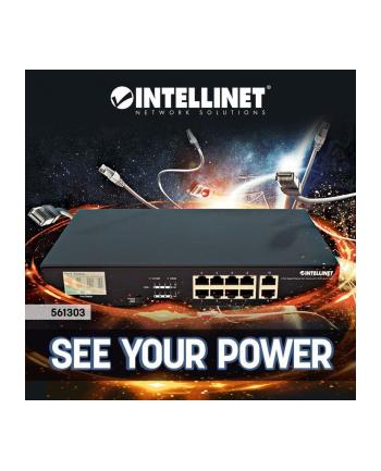intellinet network solutions Intellinet Gigabit Switch PoE+ 8x RJ45 130W + 2x UpLink RJ45, Rack 19'', LCD