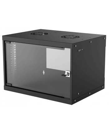 intellinet network solutions Intellinet Szafa wisząca 19'' 6U 540/400mm szklane drzwi, flat pack, czarna