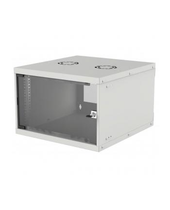 intellinet network solutions Intellinet Szafa wisząca 19'' 6U 540/560mm szklane drzwi, flat pack, szara