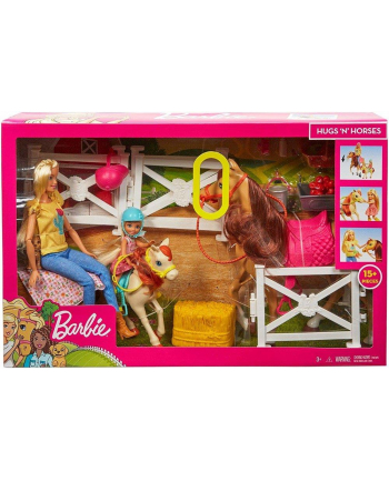 BRB Stadnina koni zestaw + lalki FXH15 p2 MATTEL