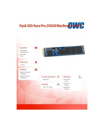 owc Dysk SSD Aura Pro 250GB MacBook Air 2012