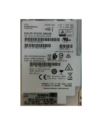 Hewlett Packard Enterprise SSD 800GB SFF SAS MU DS SC