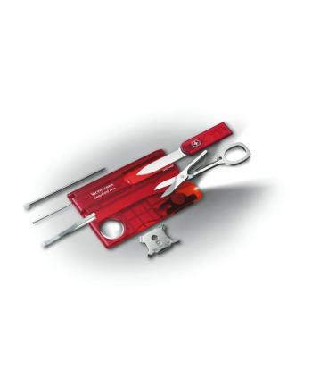 victorinox *Scyzoryk SwissCard Lite z diodš , transparentny czerwony        0.7300.T