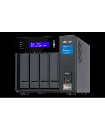 qnap Serwer NAS TVS-472XT-PT-4G 4x0HDD 4GB 2x3.1Ghz 2xThunderbolt 3