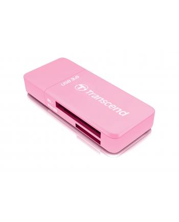 Transcend card reader USB 3.1 Gen 1 SD/microSD, pink