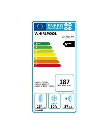 whirlpool Chłodziarko-zamrażarka W7 931A MX