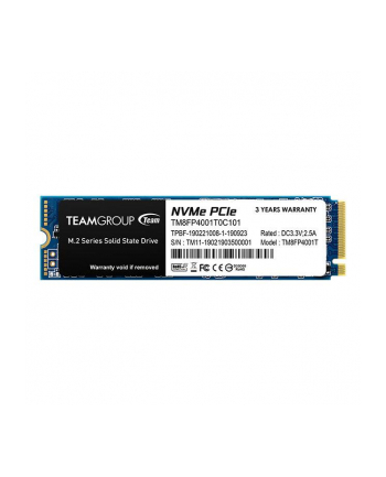 Team Group Dysk SSD MP34 1TB M.2 PCIe NVMe, 3000/2600 MB/s, IOPS 190/160K