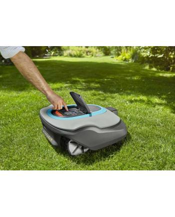 GARDENA Robotic Lawnmower SILENO +(gray / turquoise, Li-Ion battery 2.1Ah, 1,600m?)