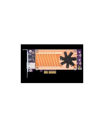 Qnap QM2 series, 2 x PCIe 2280 M.2 SSD slots, PCIe Gen2 x 4 , 1 x AQC107S 10GbE