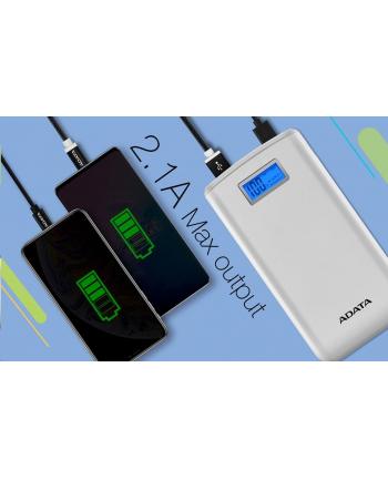 ADATA S20000D Power Bank, 20000mAh, white