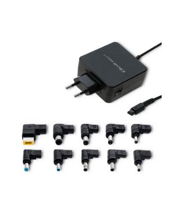 Qoltec Uniwersalny zasilacz sieciowy 65W | 10 plugins | max 3.42A