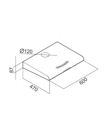Okap podszafkowy CIARKO ZRD 60 Biały (203 m3/h; 600mm; kolor biały)