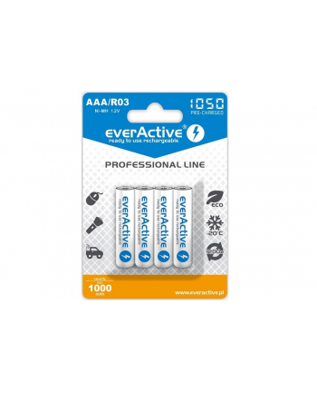 Zestaw akumulatorków everActive Professional line EVHRL03-1050 (1050mAh ; Ni-MH LSD)