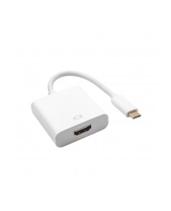 Adapter Akyga AK-AD-53 (USB 30 typu C  USB 31 typu C M - HDMI F; 0 15m; kolor biały)