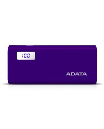 Power Bank ADATA AP12500D-DGT-5V-CPU (12500mAh; microUSB  USB typ A; kolor fioletowy)
