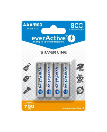 Zestaw akumulatorków everActive EVHRL03-800 (800mAh ; Ni-MH LSD)