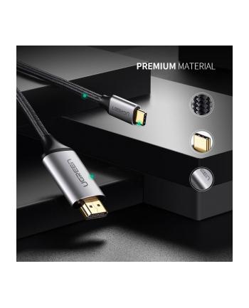 Kabel UGREEN 50570 (USB 31 typu C M - HDMI M; 1 5m; kolor czarny)