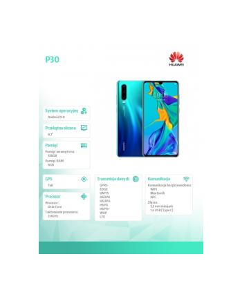 Smartfon Huawei P30 (6 1 ; 2340x1080; 128GB; 6GB Aurora Blue)