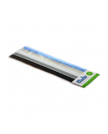 Zestaw wkładów 3Doodler PL-MIX6 (PLA; 3 mm; biały  Błękitny  czarny  przezroczysty  srebrny)