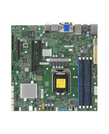 Płyta serwerowa Supermicro MBD-X11SCZ-F-O MBD-X11SCZ-F-O (LGA 1151; 4x DDR4 UDIMM; Micro ATX)