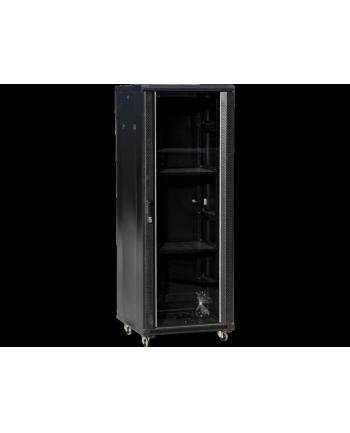 Szafa rack A-LAN SS-36U-600-600-01-C (36U; 19''; 1784mm / 600mm / 600 mm; stojąca; Szklane; 600 kg; kolor czarny)