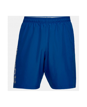 Spodenki krótkie Under Armour Woven Graphic Wordmark Short (L; Poliester; kolor niebieski)