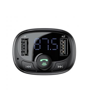 Transmiter FM FM do gniazda samochodowej zapalniczki Baseus CCTM-01 (MicroSD  USB 20)