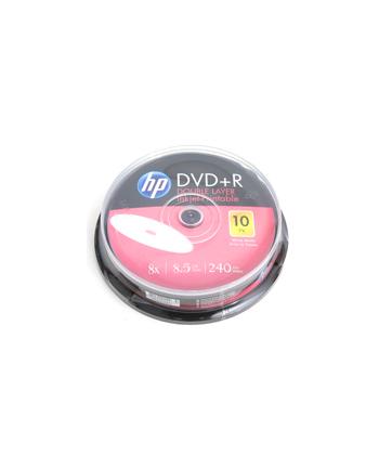 HP DVD+R | 8.5GB | x8 | WHITE FF InkJet Printable | cake 10