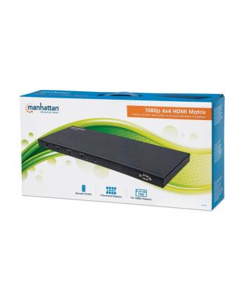 manhattan Przełącznik splitter Matrix AV HDMI 4x4 1080p 3D z pilotem IR