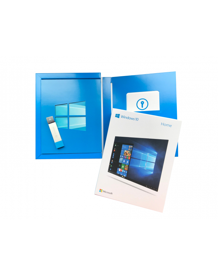 Microsoft Windows 10 Home Multi Box 32/64bit USB P2 (EN/PL/DE/FR/ES/IT) P/N: KW9-00478 główny
