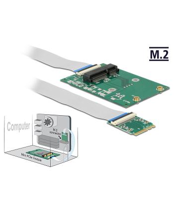 Delock konwerter M.2 Key A+E male > Mini PCI-E