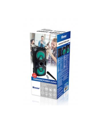 Vakoss Głośnik 2x6,5'' Bluetooth Karaoke z Mikrofonem, RGB, SP-2931BK
