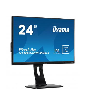 Monitor Iiyama XUB2495WSU-B1 C 24,1'', panel IPS, D-Sub/HDMI/DP, USBx4, głośniki
