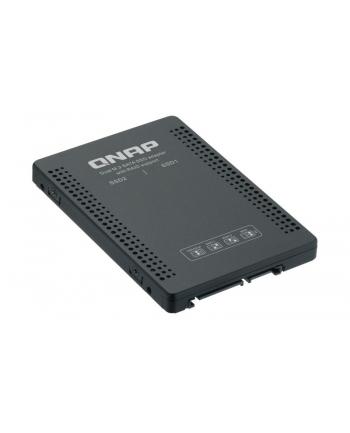 QNAP 2.5'' SATA to dual M.2 2280 SATA drive adapter, hardware RAID 0/1, JBOD