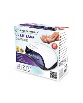 ESPERANZA EBN007 DIAMOND - Lampa UV do paznokci żelowych, hybrydowych 80W