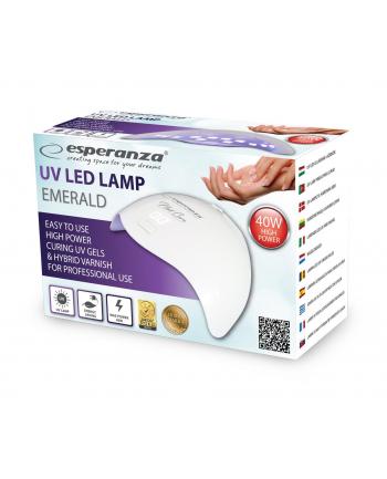 ESPERANZA EBN008 EMERALD - Lampa UV do paznokci żelowych, hybrydowych 40W