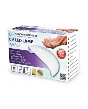 ESPERANZA EBN009 AMBER - Lampa UV do paznokci żelowych, hybrydowych 40W