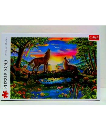 Puzzle 500el Wilcza natura 37349 Trefl