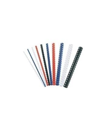 GRZBIETY PLASTIKOWE FELLOWES 12mm CZARNE 100szt